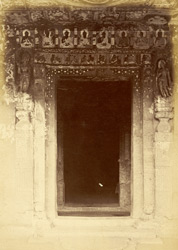 Doorway of Buddhist Vihara, Cave XVII, Ajanta